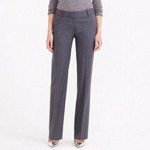 J.Crew Wool Trouser Pants Wide Leg Gray 2